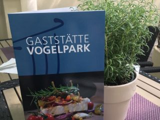 Speisekarte Gaststätte Vogelpark